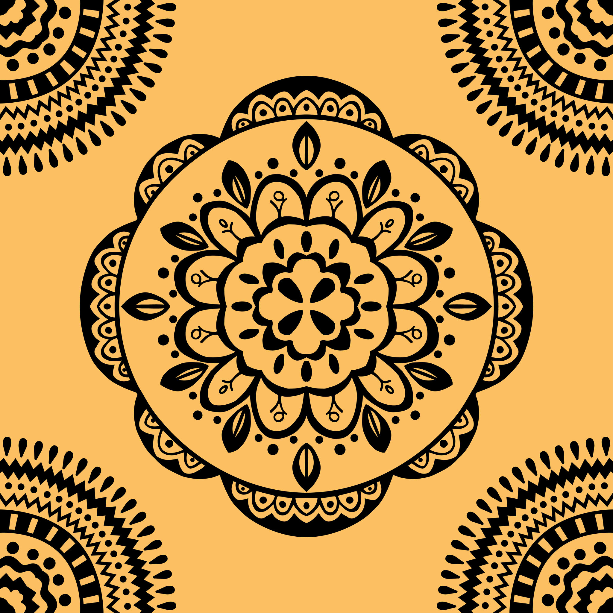 39696644 - vector seamless yellow pattern. isolated on white